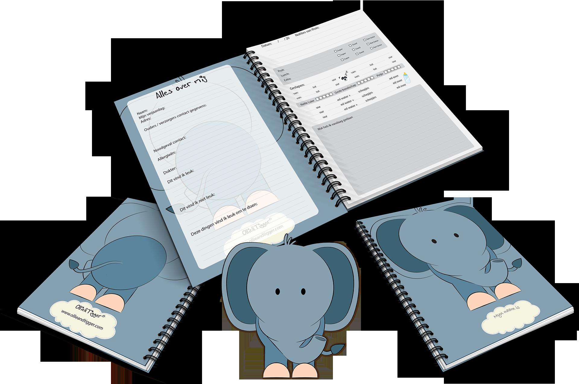 kinderopvangboekje voor gastouder en kinderdagverblijf