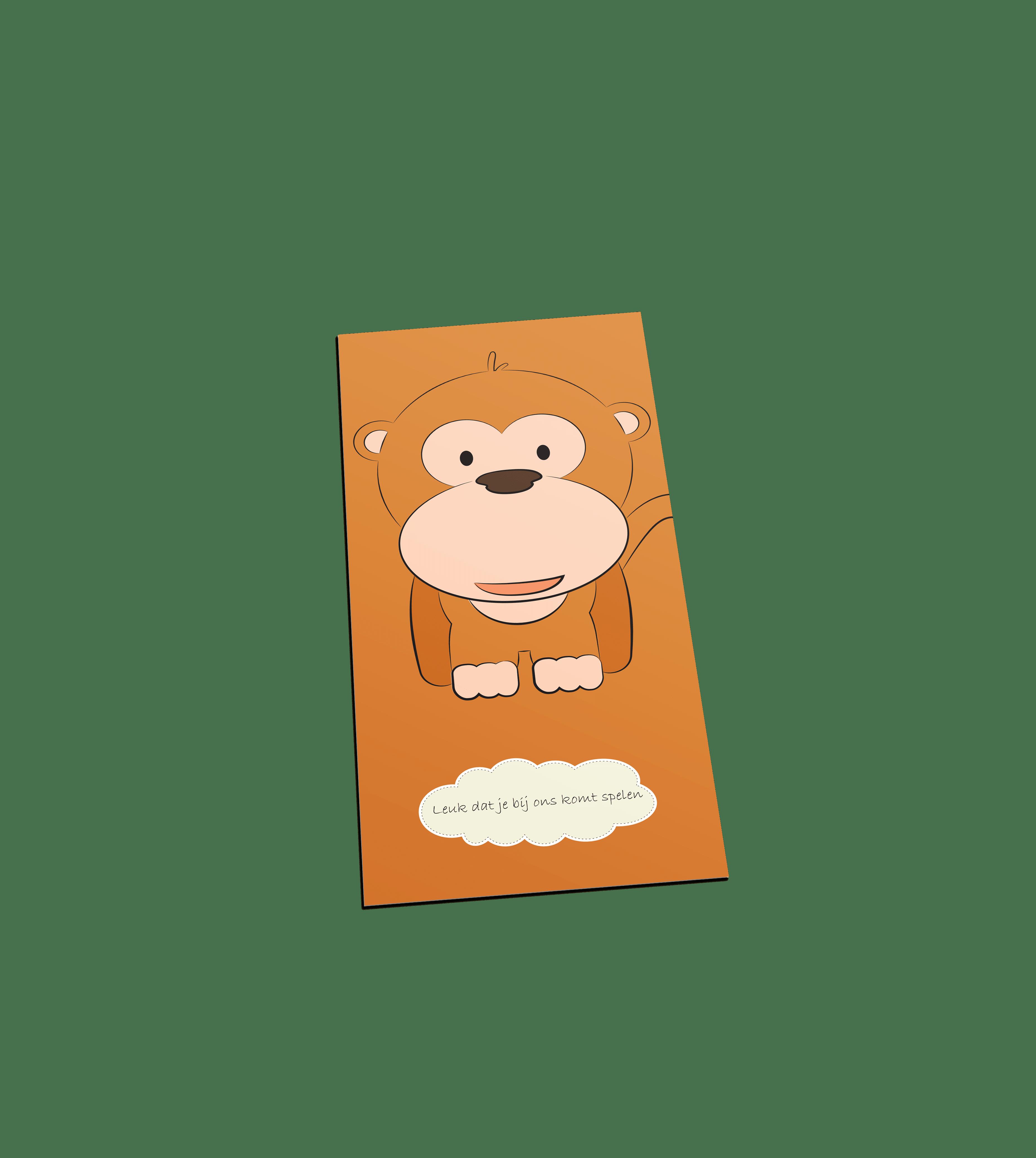 Aap welkom postcard