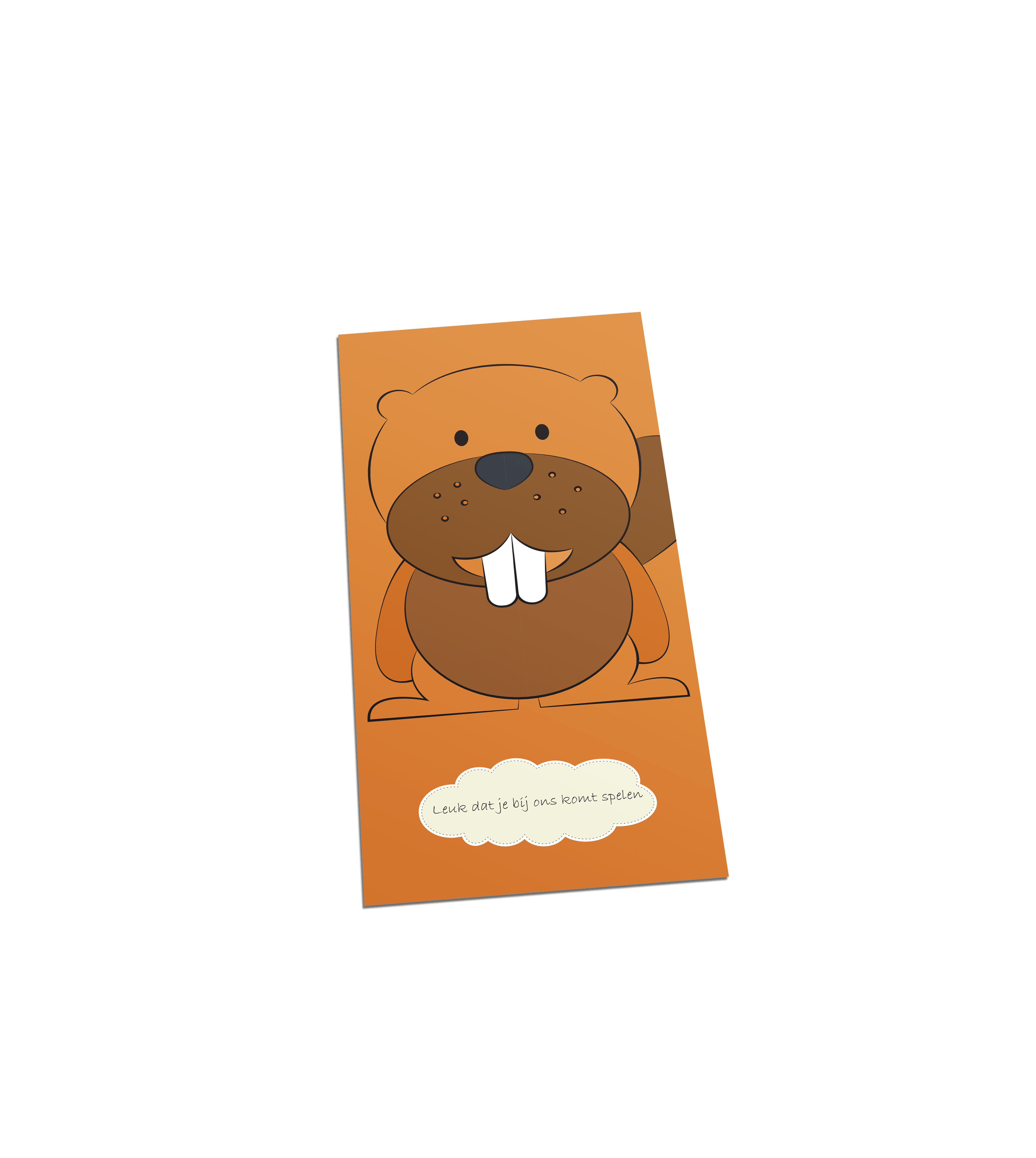 Bever welkom postcard
