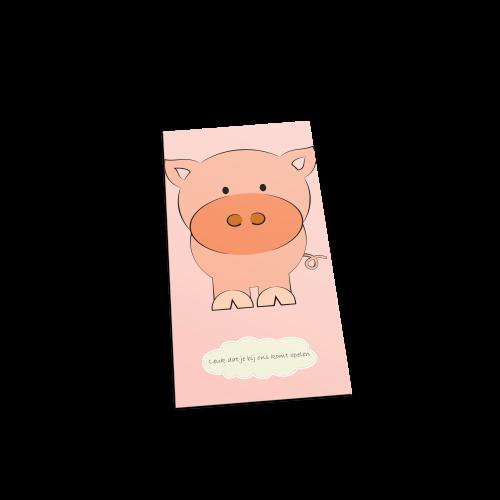 Big welkom postcard