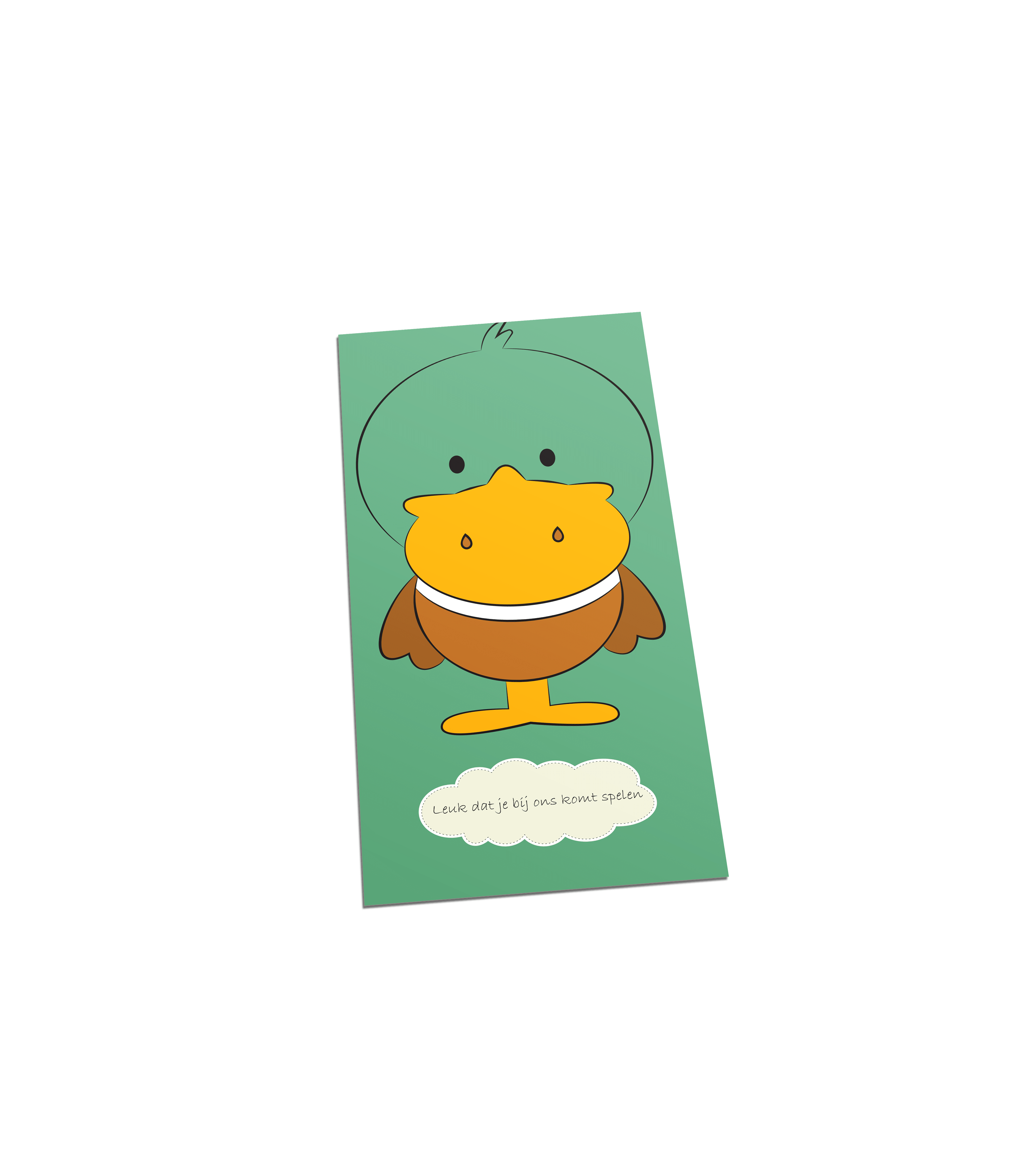 Eend welkom postcard