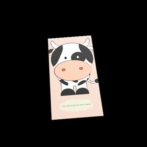 Koe welkom postcard