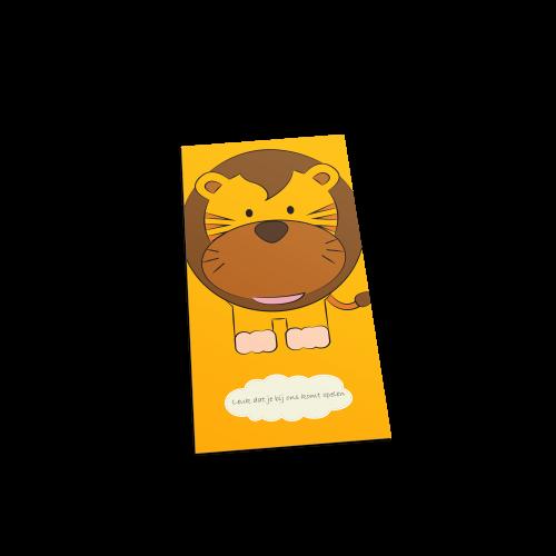 Leeuw welkom postcard