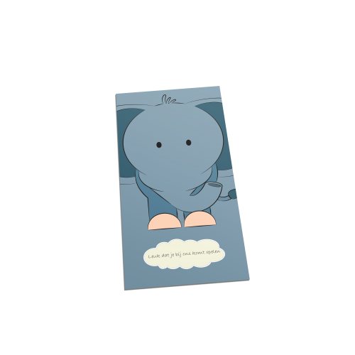 Olifant welkom postcard