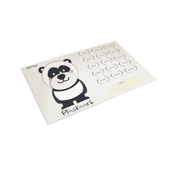 Plaskaart Panda