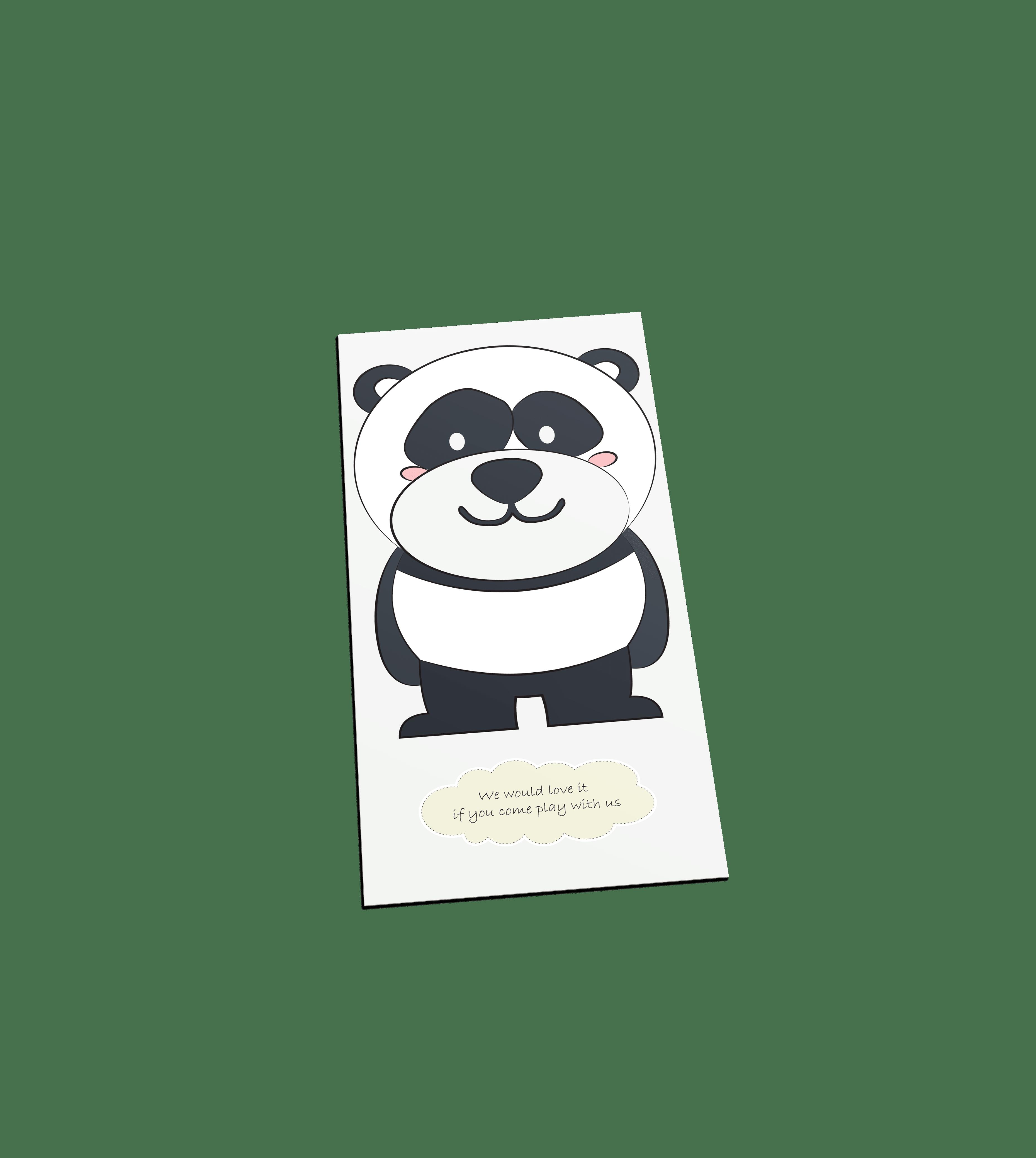 Panda welkom postcard