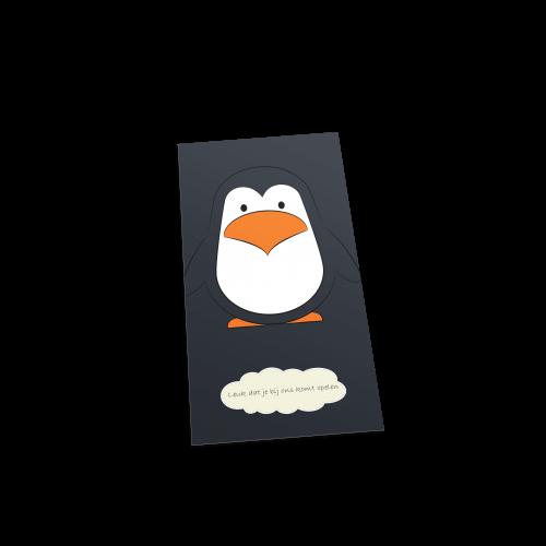 Pinguïn welkom postcard