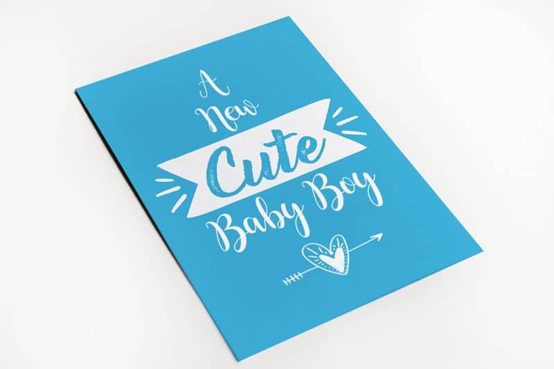 Geboortekaartje cute boy