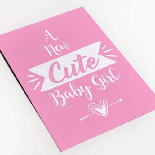 geboortekaartje meisje cute girl