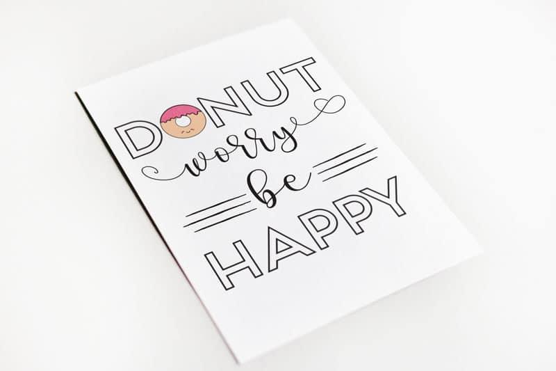 donut worry be happy wenskaart