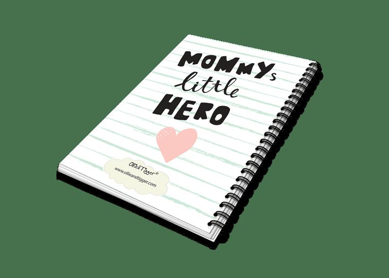 mommys hero heen en weer oppas creche boekje achterzijde