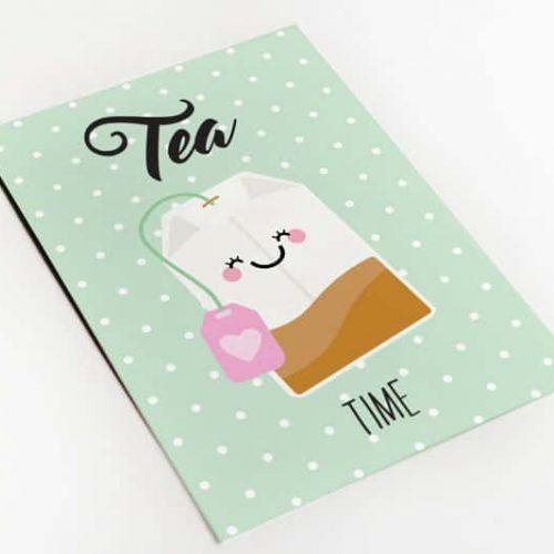 Tea time wenskaart