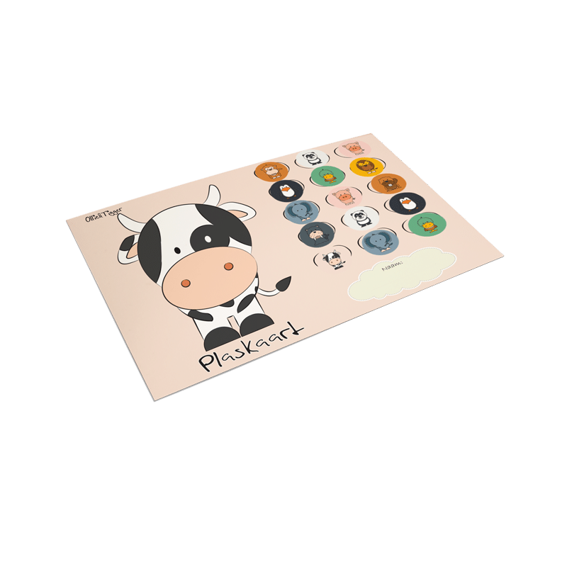 stickers plaskaart geplakt