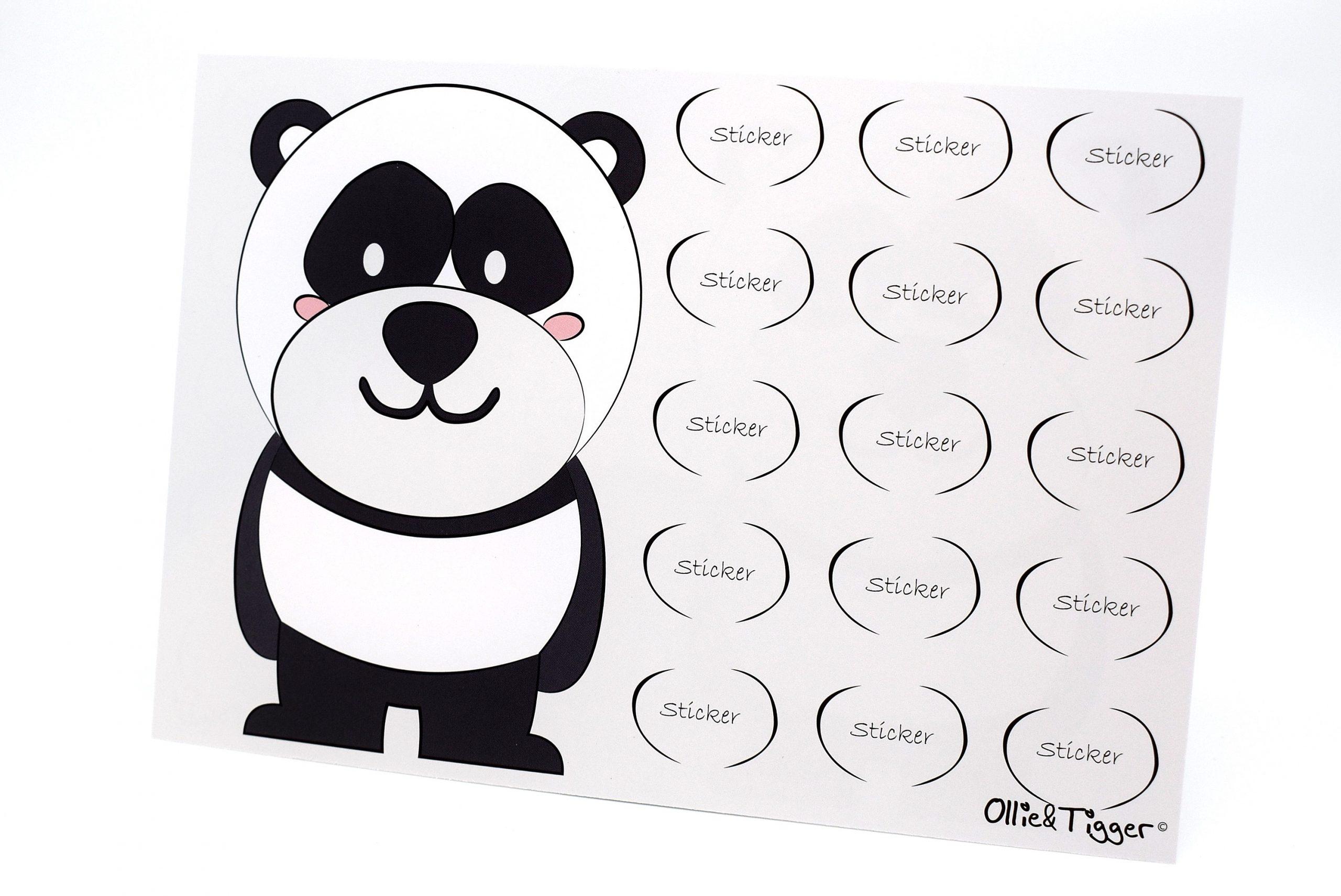 Zindelijkheidstraining beloningssysteem met stickers